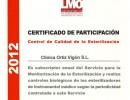 Certificado control de calidad de la esterilización
