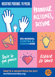 Poster de World Cáncer Day