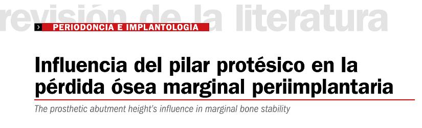 Influencia del pilar protesico