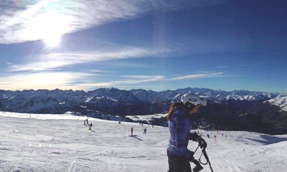 Cuando no está en Bilbao, a Judit le gusta skiar