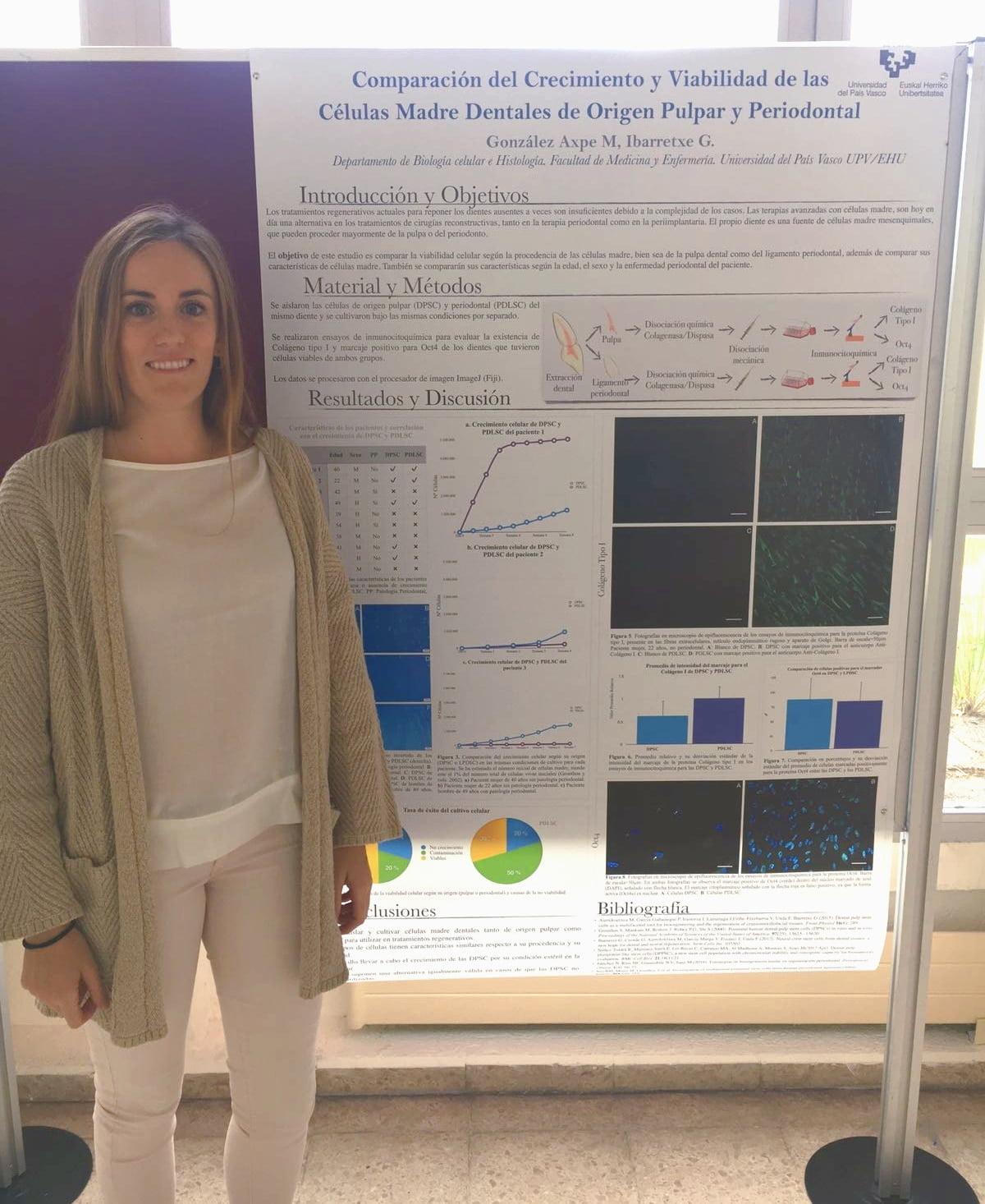 La Dra. Gonzalez presenta su trabajo del Máster de Investigación Biomédica