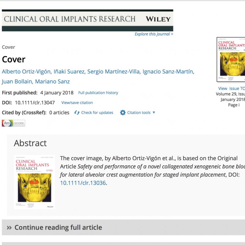 Portada de Wiley con publicación del Dr. Ortiz-Vigón