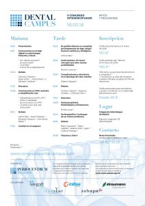 Folleto programa II Congreso Dental Campus