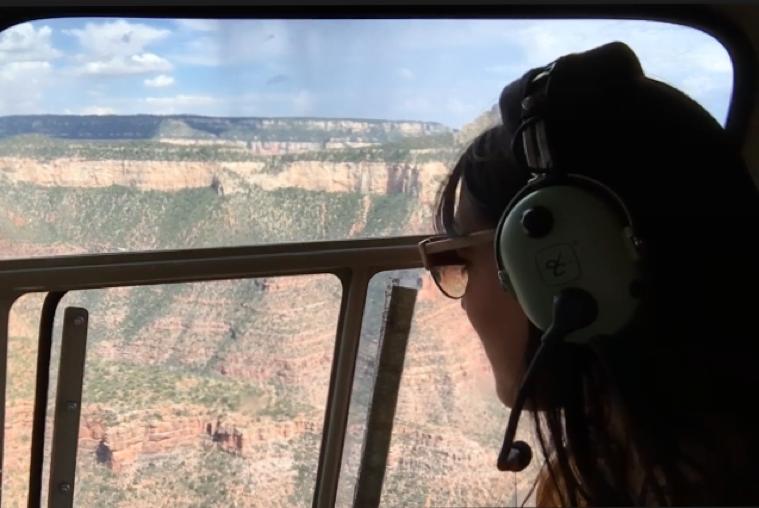 Aiala visitando el Gran Cañón del Colorado