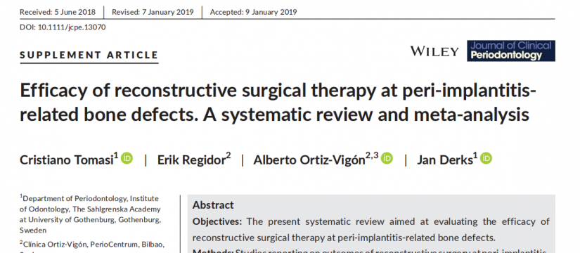 Efficacy of reconstructive surgical therapy