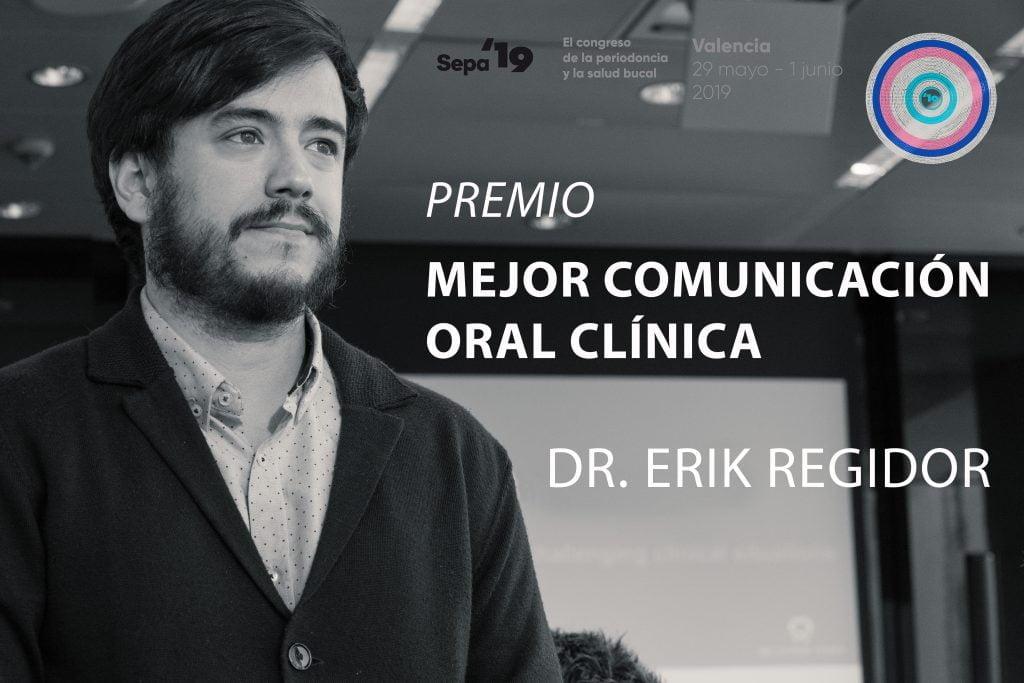 Erik Regidor, mejor comunicación oral clínica en SEPA 2019