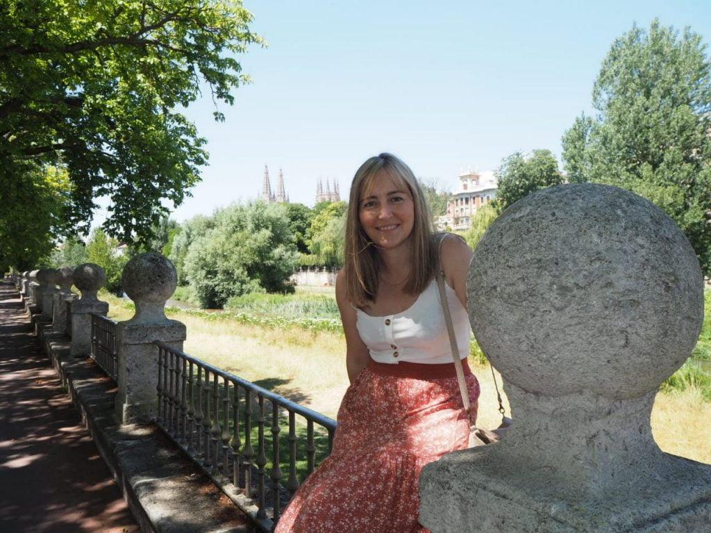 Sonia haciendo turismo en Burgos