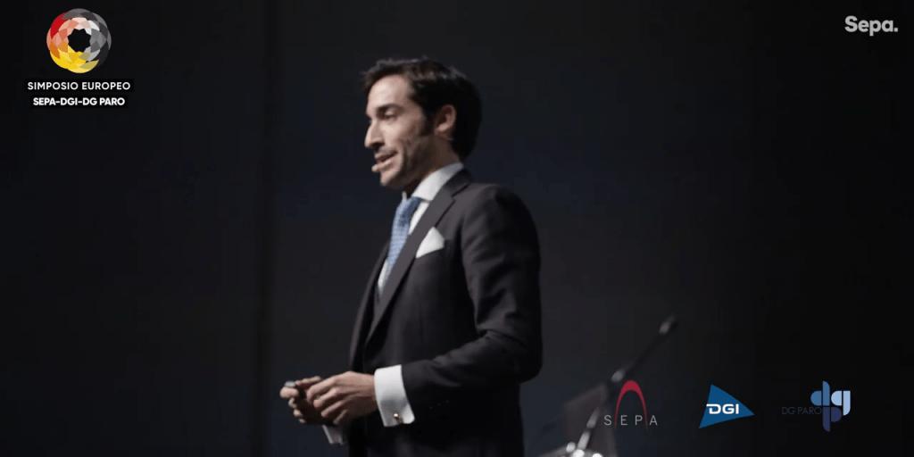 Alberto Ortíz-Vigón durante el Simposio SEPA-DGI-DGPARO