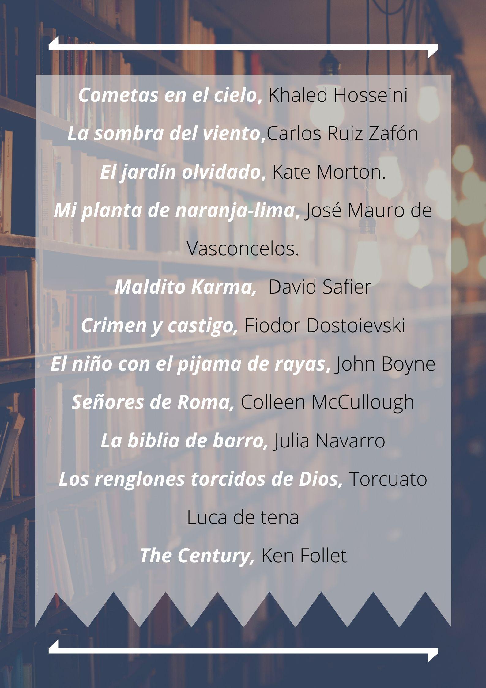 Lecturas recomendadas Ortiz-Vigón
