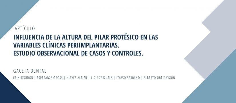 Banner Publicación altura pilar protesico y variables clinicas periimplantarias